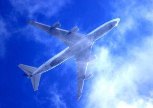 宮崎へ向かう飛行機