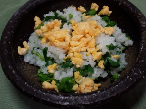 菜の花ご飯