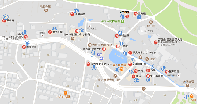 蕎麦屋地図